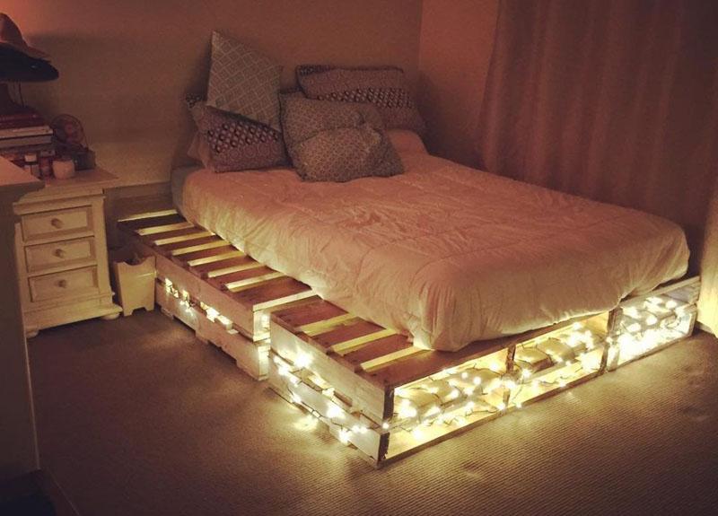 Изюминка квартиры в стиле лофт – кровать из поддонов своими руками пошагово с фото моделей