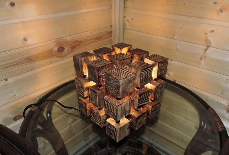 Возможно кто-то из арт-мастеров предложит вот такую необычную лампу