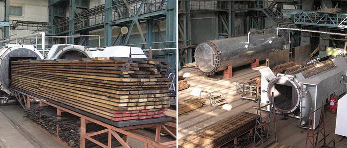 На производстве используются также специальные пиролизные печи для сушки древесины