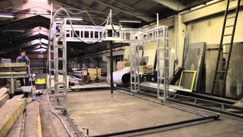 Принтер BetAbram P1 может напечатать дом площадью в 144 квадратных метра, при относительно невысокой конструкции – около трех метров