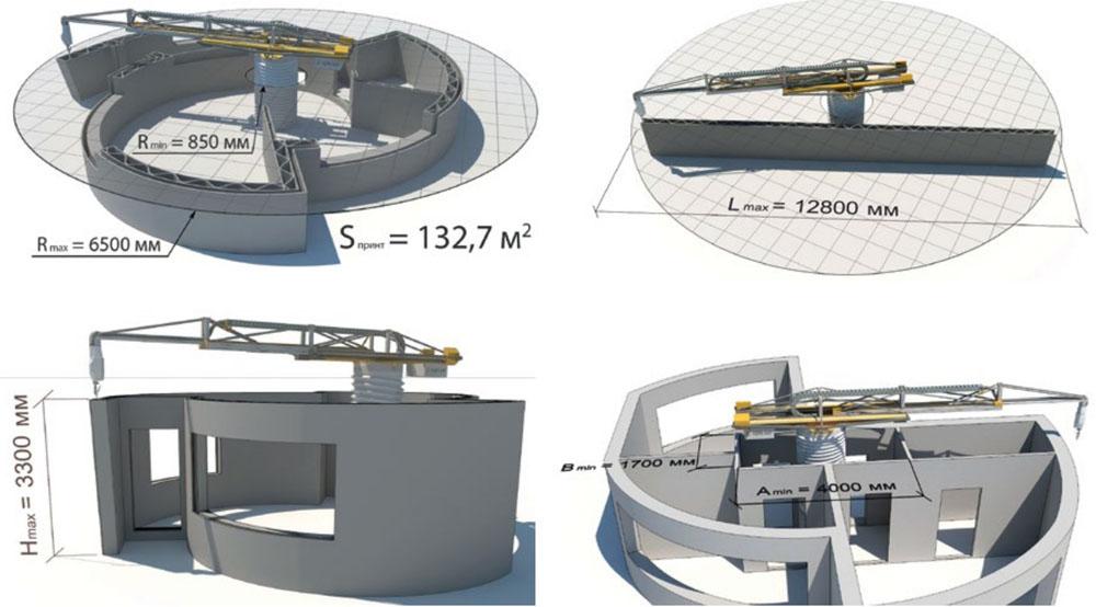 Вариации конструкций строительных 3D-принтеров