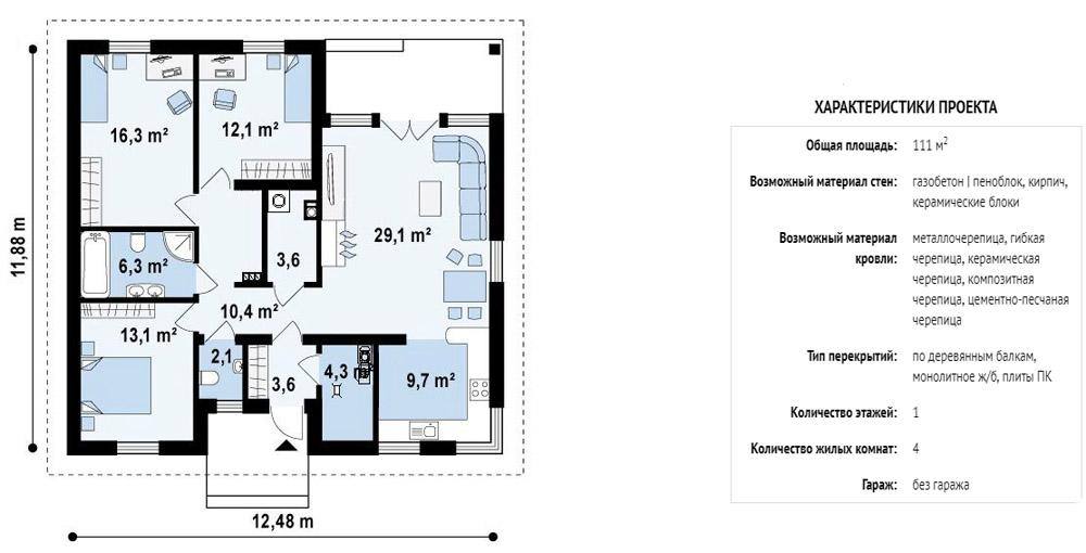 Главная идея – собственное пространство для каждого из домочадцев