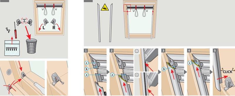 Как крепить жалюзи на пластиковые окна с помощью крючков
