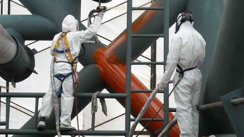 Окрашивание строительных конструкций огнезащитной краской
