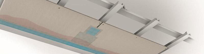 Использование серии «Скайлайт» при монтаже подвесных потолков