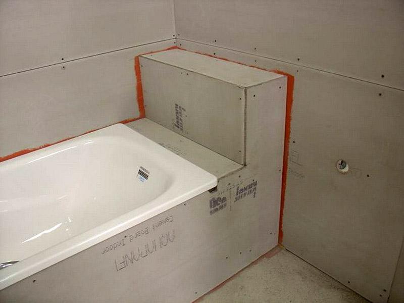 Отделка ванной комнаты с использованием аквапанелей KNAUF