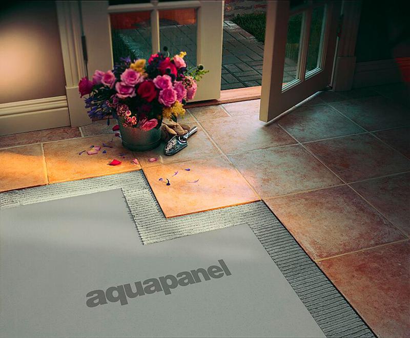 Использование в качестве основания при монтаже напольных покрытий в прихожей и холле