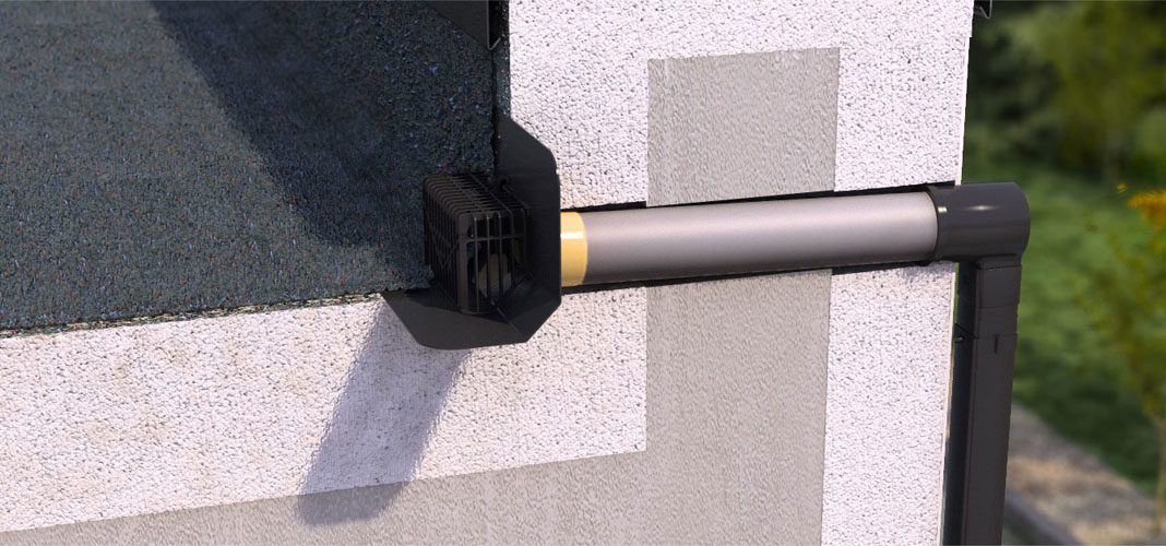 Как организовать водосток на плоской крыше