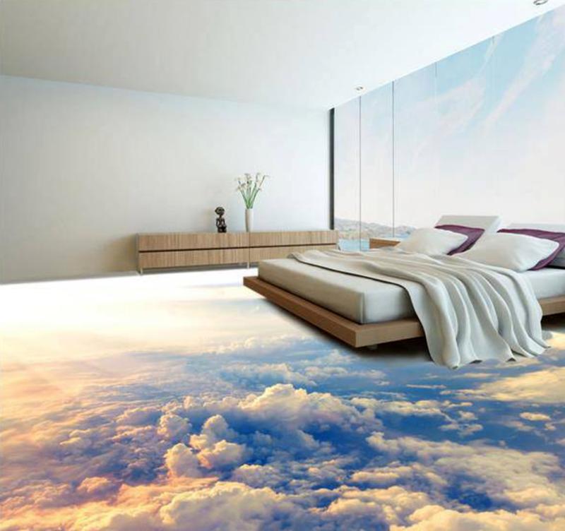 Изображение воздушного пространства в спальне