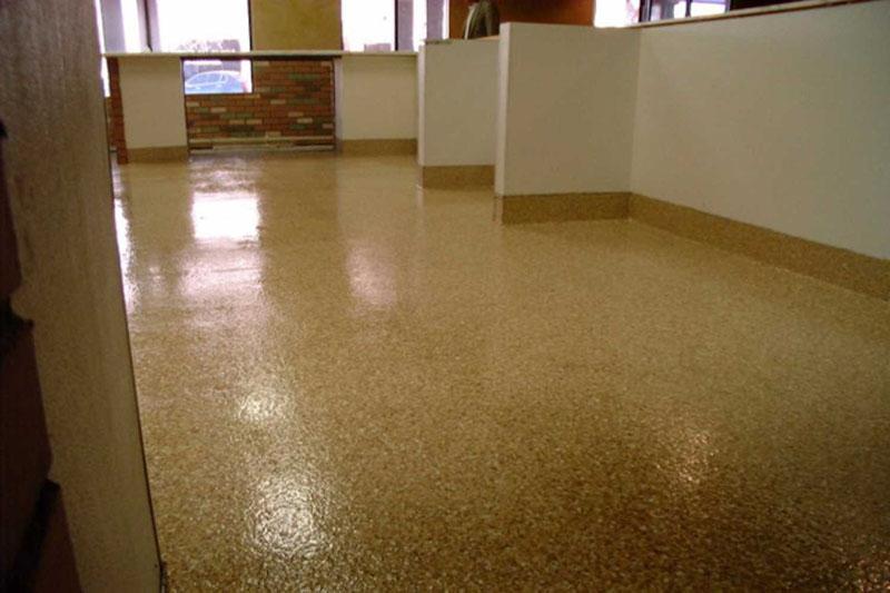 Метилметакриловый наливной пол в административном здании