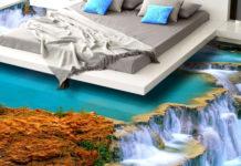 Наливной пол: фото