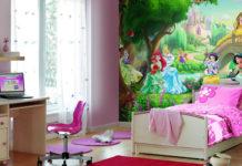 Обои для детской комнаты для девочек: фото