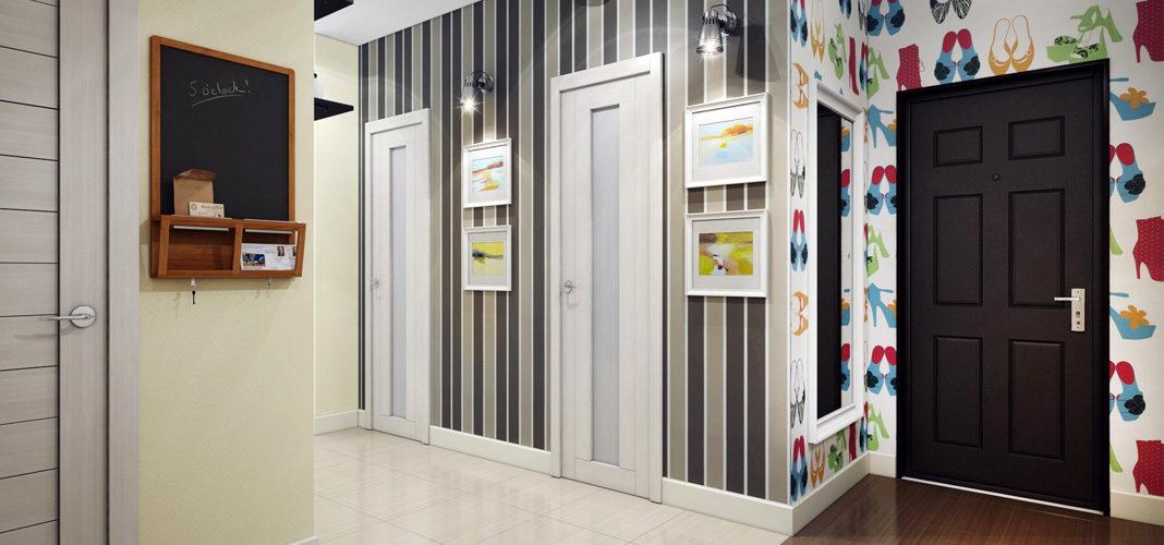 Обои для прихожей и коридора: фото