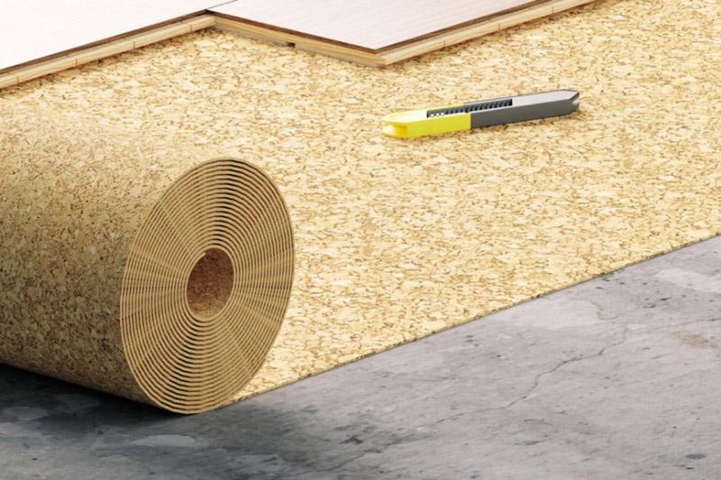 Рулонное техническое пробковое покрытие используют в качестве подложки