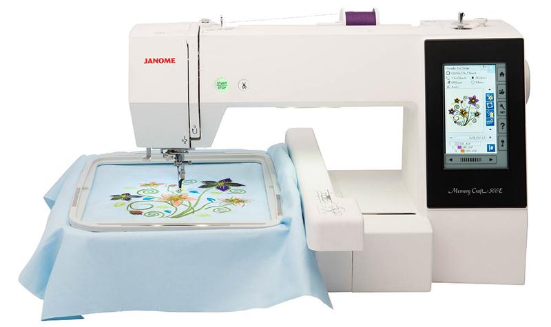 Эта машинка способна вышивать. Всё, что требуется от пользователя – поставить нитки и загрузить изображение