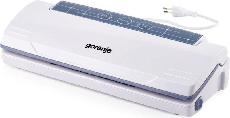 При помощи «Gorenje VS110W» можно упаковывать одежду или запаивать пакеты без вакуумизации