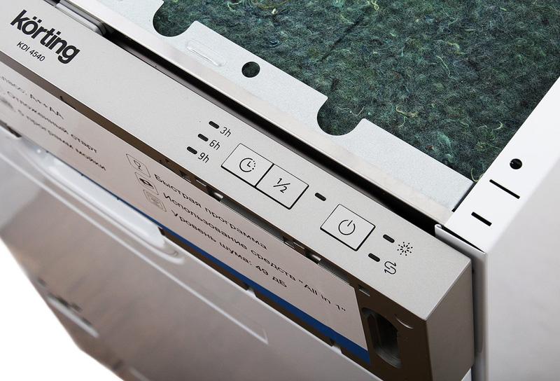 Одна из бюджетных, компактных посудомоек этой фирмы, которая навсегда освободит вас от рутинной обязанности– посудомоечная машина Korting KDI 4540
