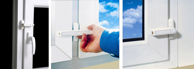 Вариантыустановкизащёлок-блокираторов на оконные конструкции