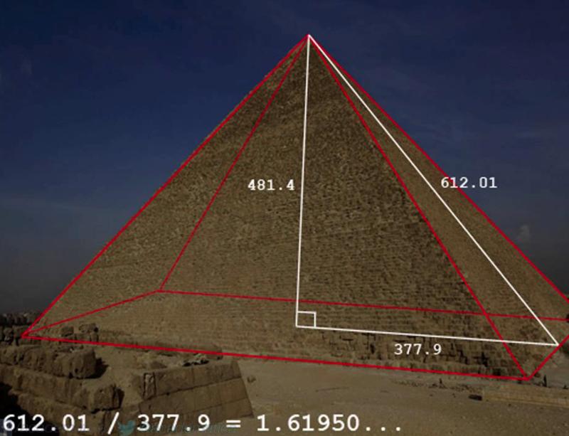 Идеальная пропорция золотого сечения в пирамиде