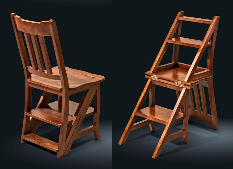 Стремянка может использоваться как обычный стул