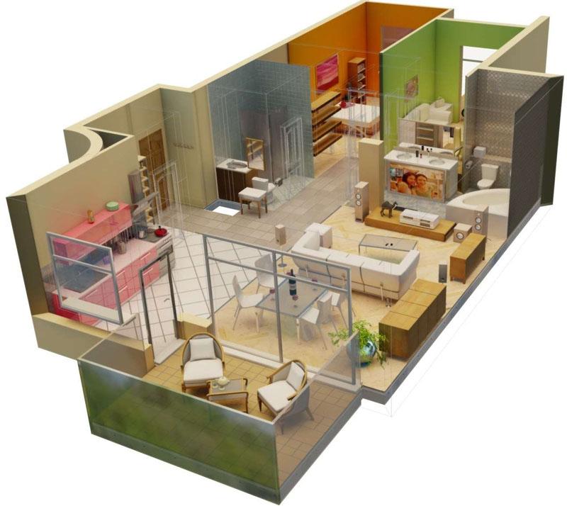 С помощью программы можно без физических усилий распланировать перестановку в квартире