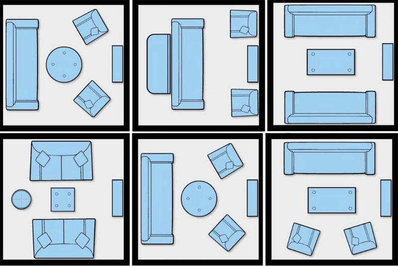 Варианты перестановки мебели