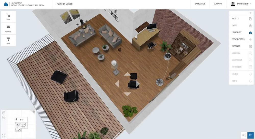 Homestyler не требует особых навыков проектирования или моделирования
