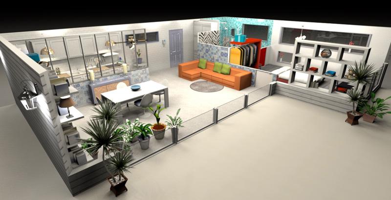 SweetHome 3D позволяет создавать отличные визуальные образы интерьеров