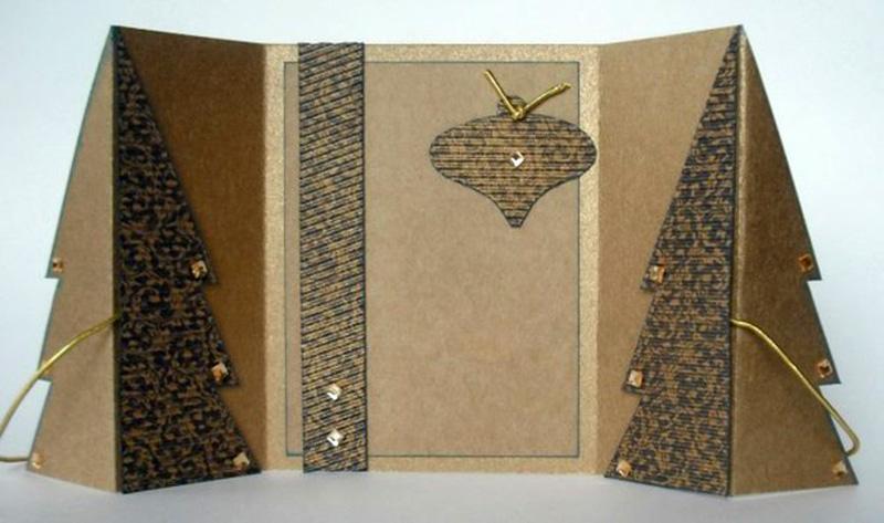 Украсить открытку декоративными бусинками или стразиками