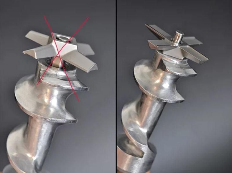 Внешний вид ножа для механической мясорубки