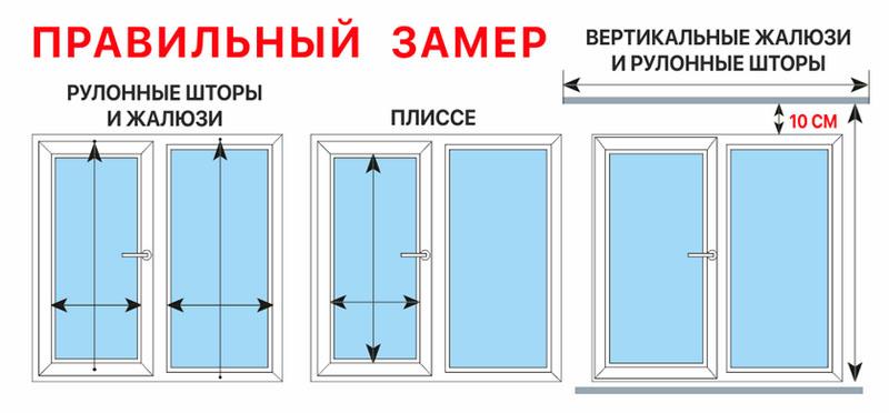 Замеры окна зависят от типа жалюзи и варианта их крепления на окнах
