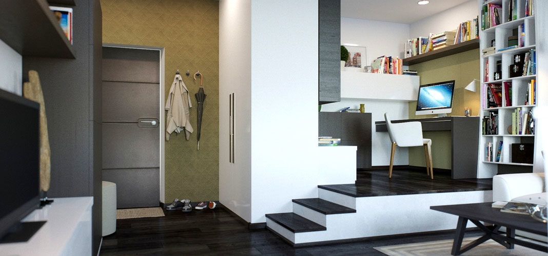 Как устроить рабочий кабинет в малогабаритной квартире
