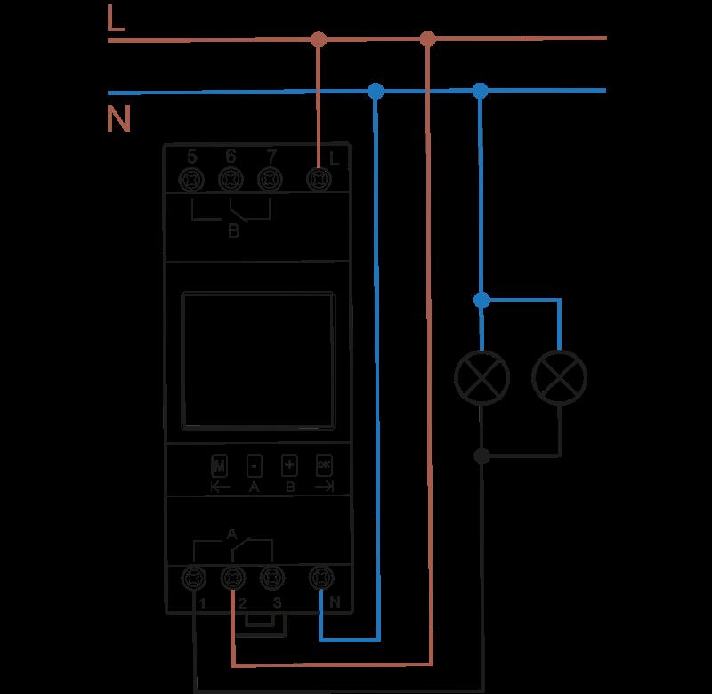 Схема подключения РКН производства «АВВ»