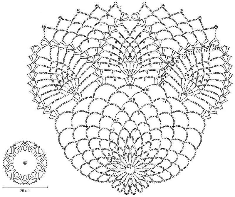 Схему «Ананас» используют не только для салфеток, но и для вязания ажурных кофточек