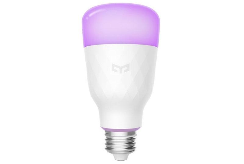 Лампа может светить разными цветами