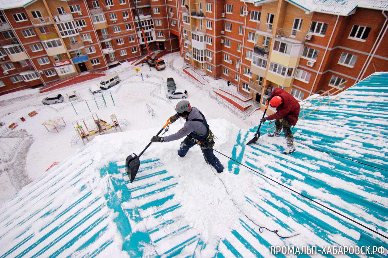 Картинки уборка снега с крыш
