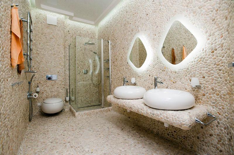 Ванная без плитки – альтернативные варианты отделки