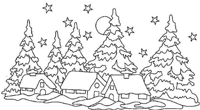 ❄Как сделать красивые вытынанки к Новому году: схемы и шаблоны на окна и в интерьер