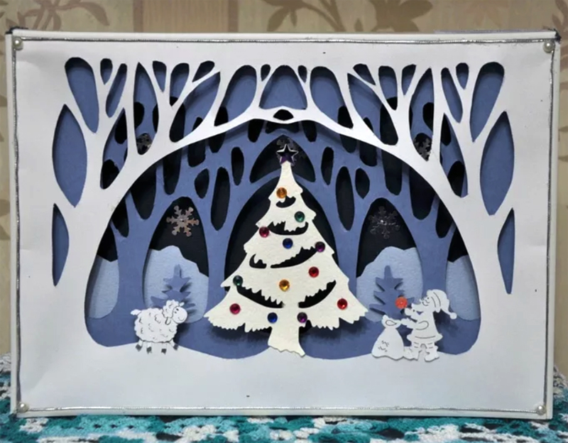 зависит рождественская открытка многослойная шаблоны удивляет необычными тортами