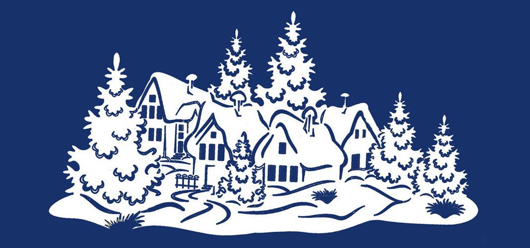шаблоны к новому году зимний сказочный лес как