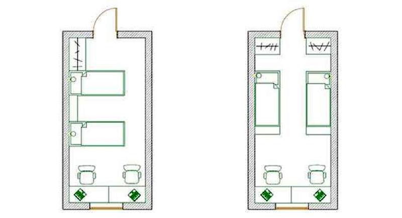 Меблировка узкой комнаты