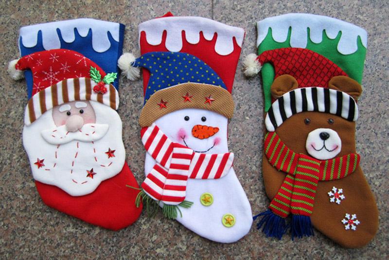 Рождественские сапожки из ткани