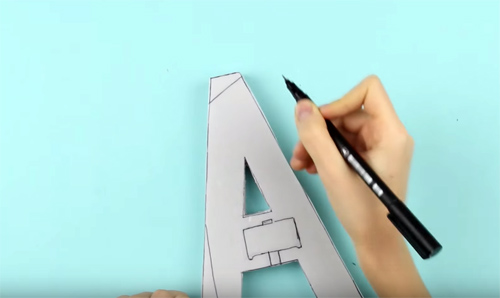 25 креативных идей изготовления букв из пенопласта своими руками