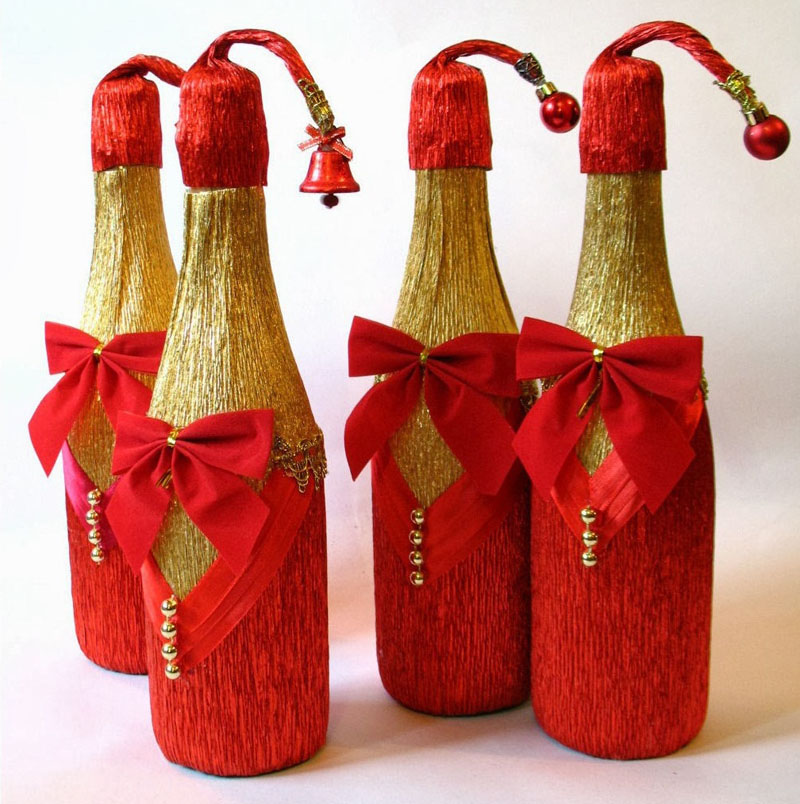 Красный и золотой считаются традиционными новогодними сочетаниями