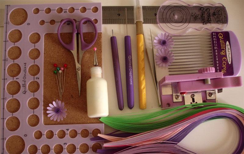 Инструменты и материалы для квиллинга