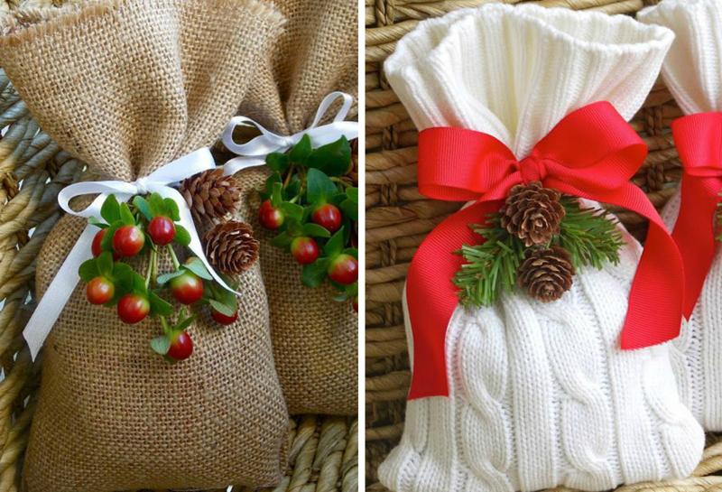 Старые свитера тоже принимают участие во вручении подарков