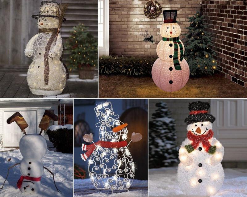 Из чего только не создают уличных снеговиков!