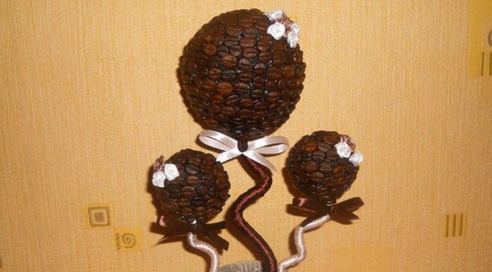 🌱 Как сделать кофейное дерево своими руками: 7 мастер-классов изготовления и декорирования топиария