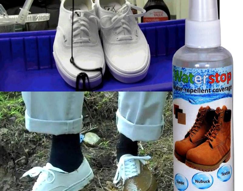 Водоотталкивающие спреи — то, что убережёт обувь от негативных уличных осадков и сохранит их чистоту