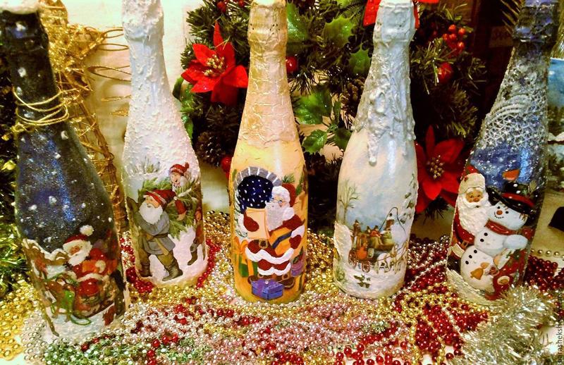Вот такими могут получиться ваши бутылки шампанского